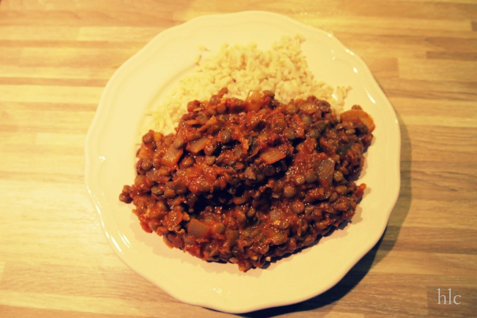 ryż z soczewicą