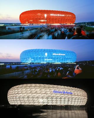 Los colores cambiantes del Allianz Arena