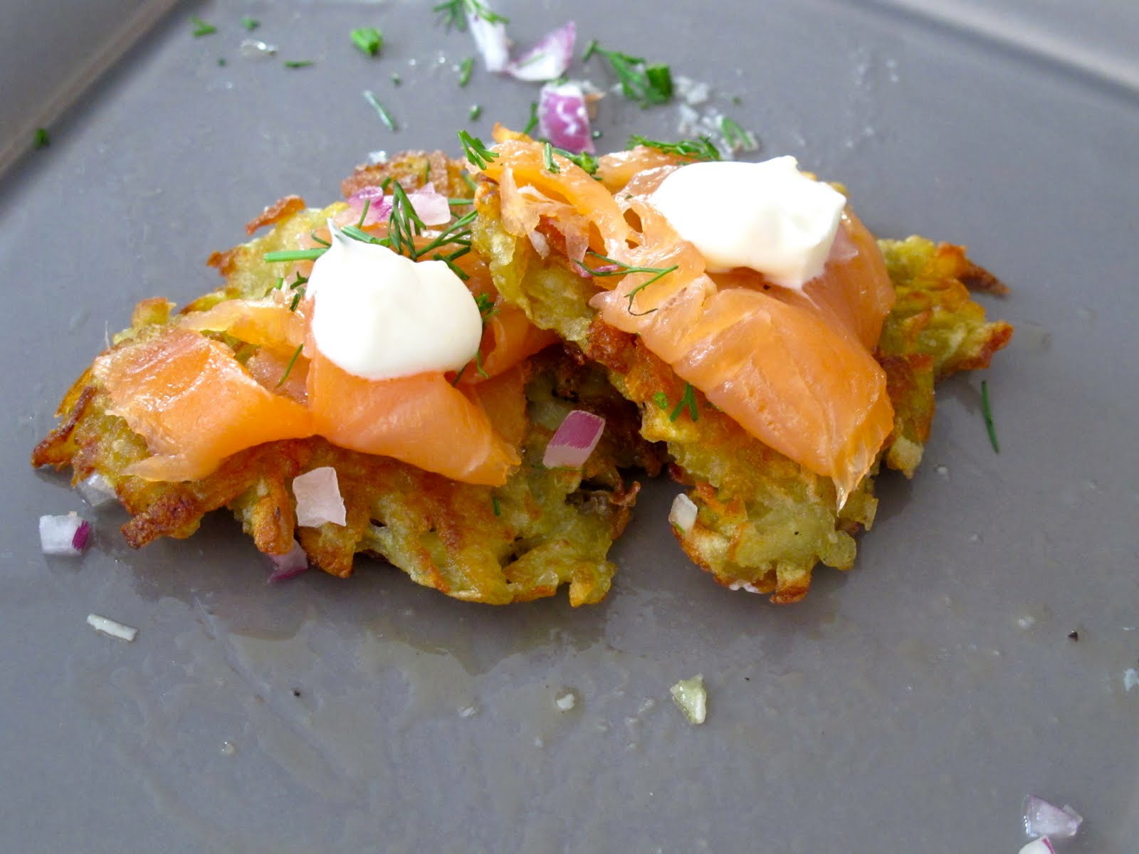 Smoked Salmon Scramble With Dill, Red Onion And Creme Fraiche Recipes ...
