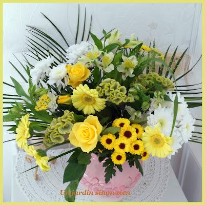 Design Bouquet jaune