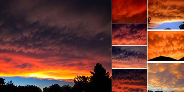 Peristiwa Langit Merah Terbakar Tertangkap Kamera