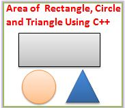 C++ Program to Find Area of a Rectangle, Circle and Triangle with Class Diagram