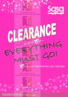 SASA Clearance Sale e@curve 2012