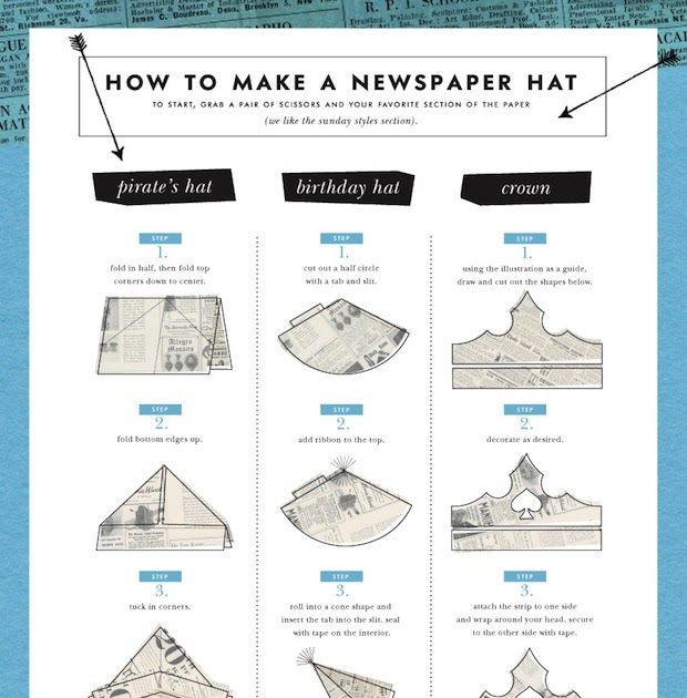 The terrier and lobster how to make a newspaper hat from for How to make something with newspaper