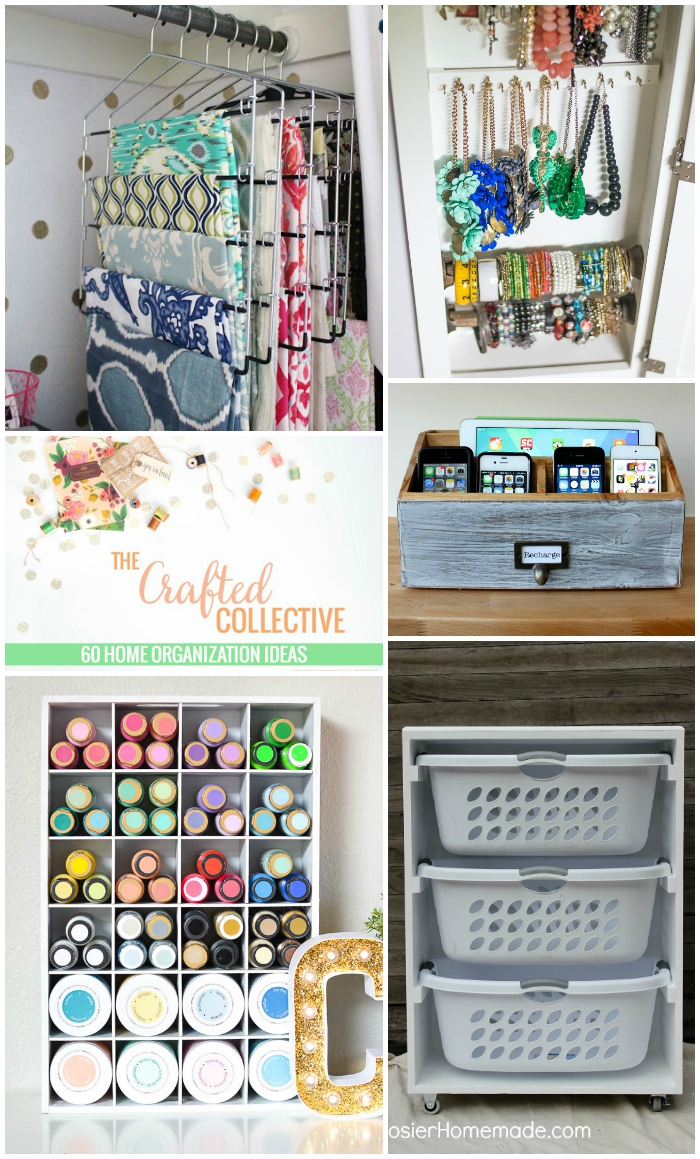 60 Home Organization Ideas--Helpful tips from across the web to organize every room in the house! www.pitterandglink.com