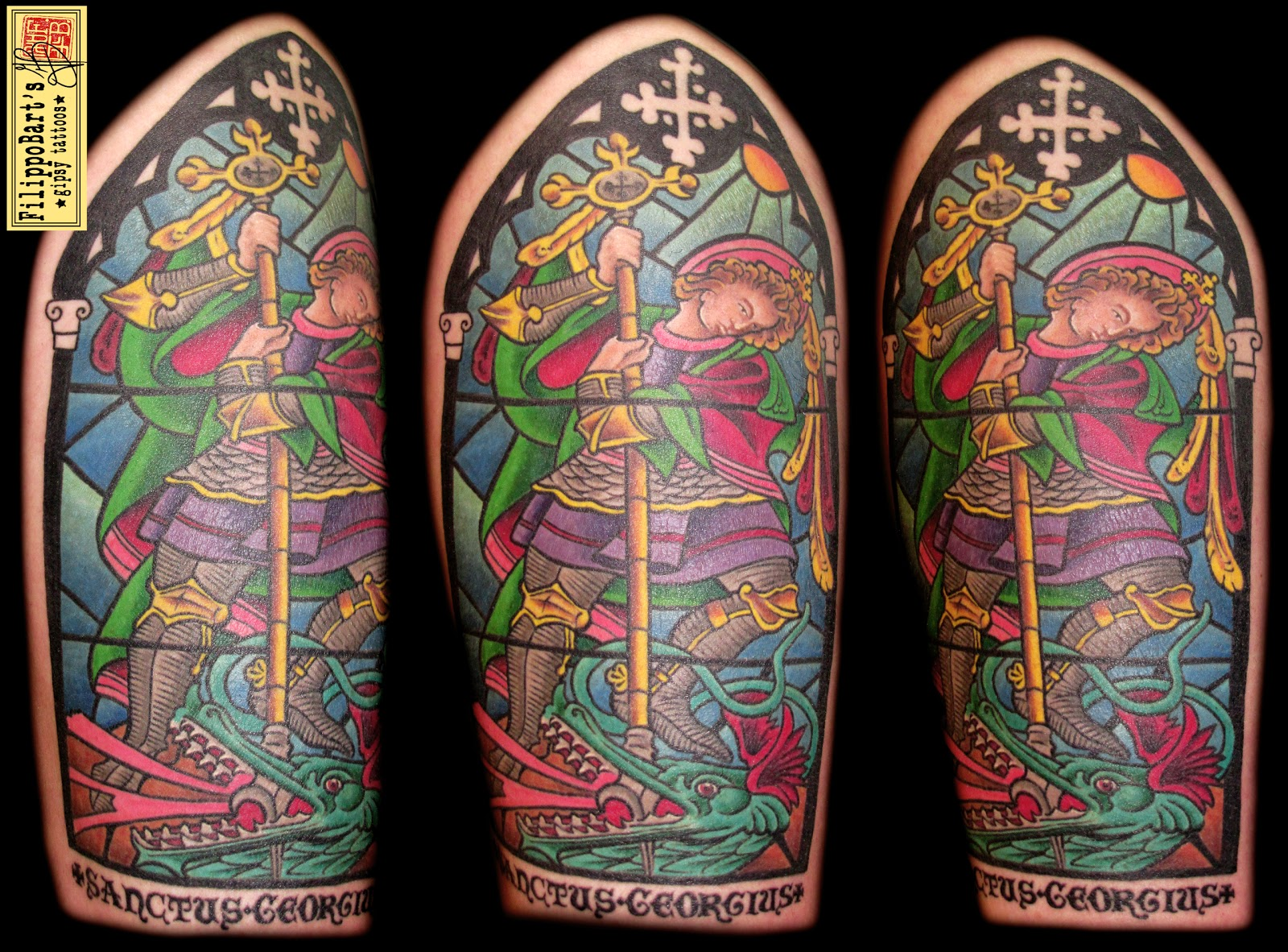 Stained Glass Back Tattoo The gipsy caravan tattoo