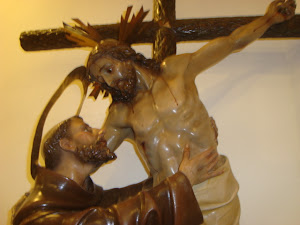 con esta bella imagen de s. francisco y el cristo , te deseo suerte en tus prensentaciones