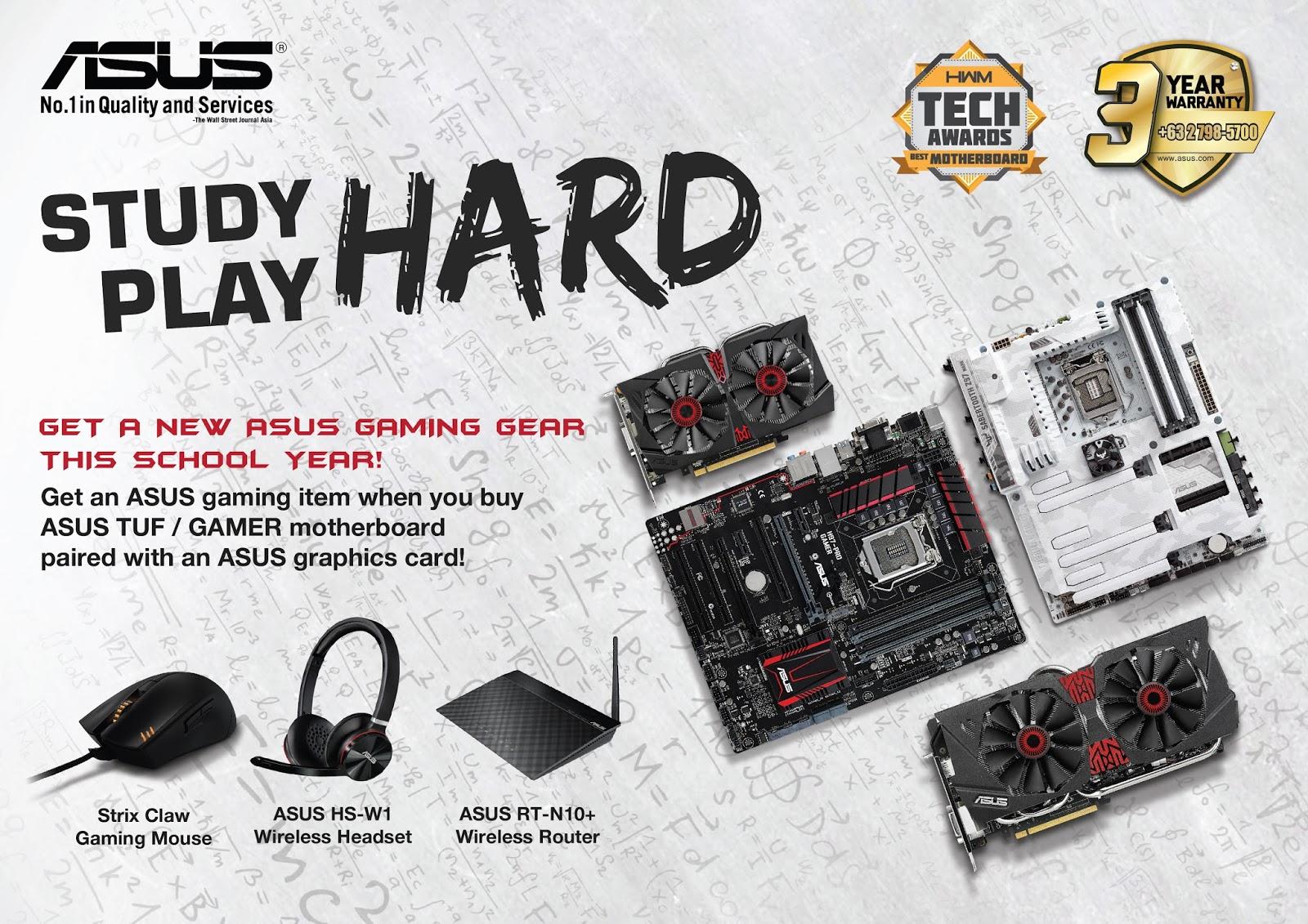 ASUS Study Hard, Play Hard Promo