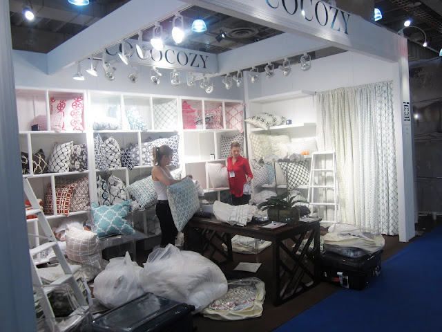 Packing up all the pillow cases in the Nbaynadamas booth at New York International Gift Fair
