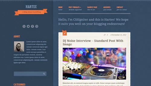 Hartee Cssigniter Wordpress Theme Version 1.0 free
