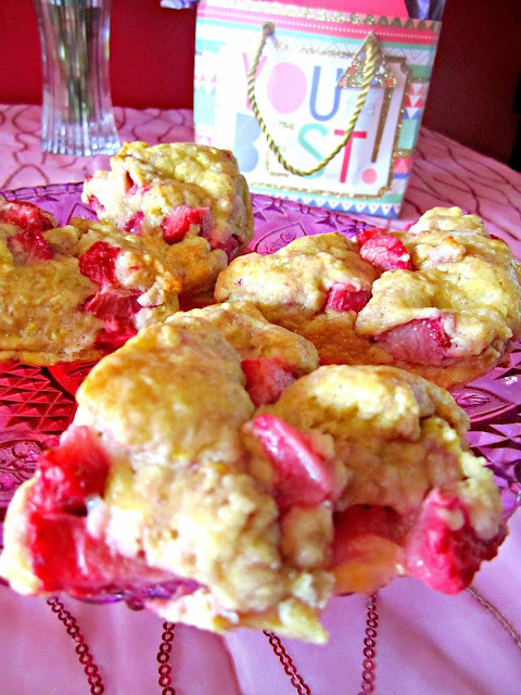 Mother's Day brunch strawberry scones