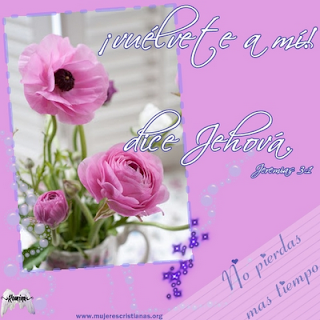 Tarjeta – Vuélvete a mi dice Jehová