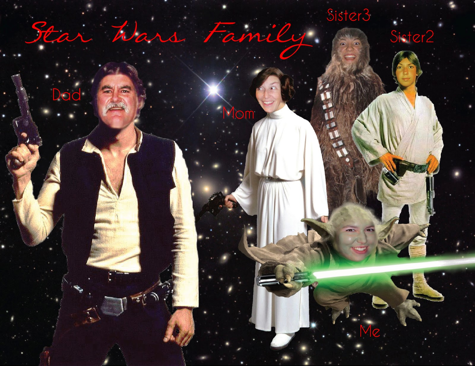 Jenn's family photoshopped onto Star Wars characters | Business, Life & Design