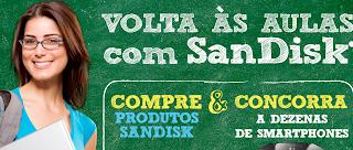 """Promoção """"Volta Às Aulas Com Sandisk"""""""