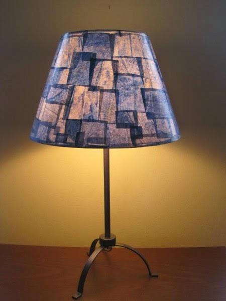 luminária feita com filtro de papel