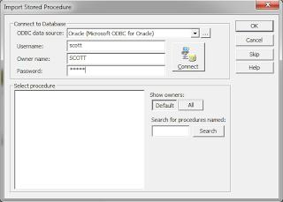 import stored procedure transformation