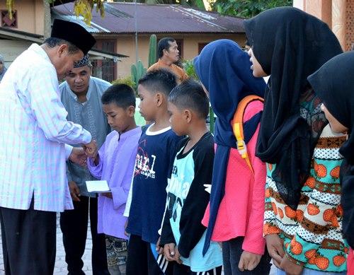 Gandeng Pemko Pariaman dan Kodim, Lintang Enam Santuni Anak Yatim sekaligus Gelar Acara Bertema Religi