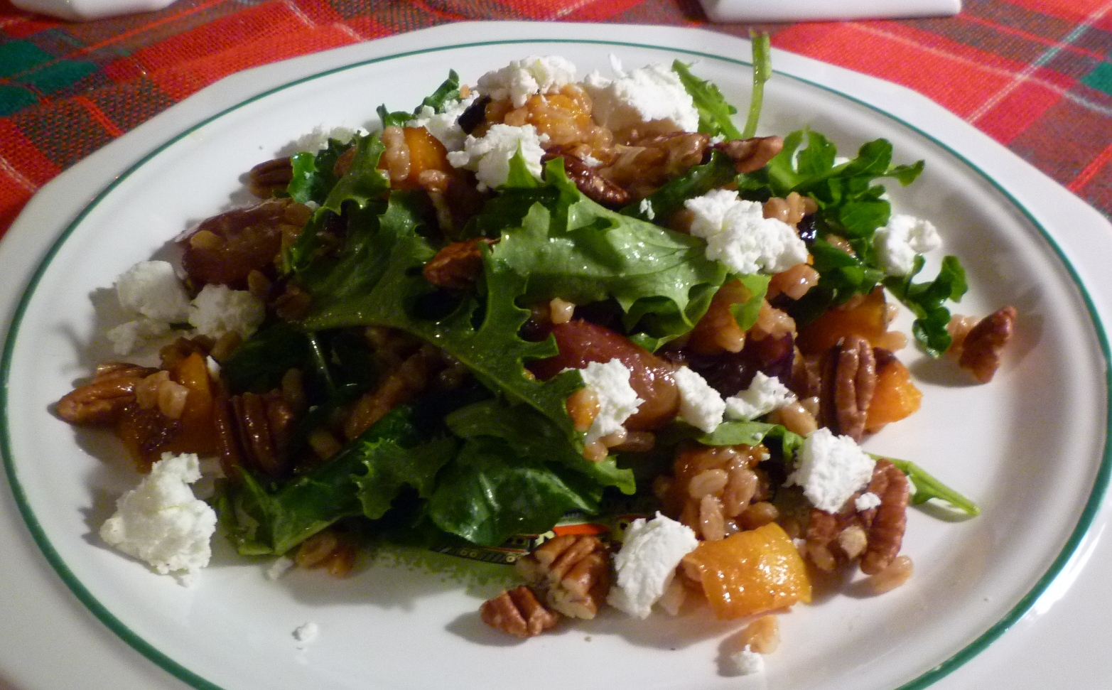 For Love of the Table: Farro Salad with Roasted Butternut ...