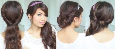 everyday headband hairstyles hair tutorials for girls