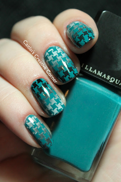 Illamasqua Muse stamped gradient houndstooth