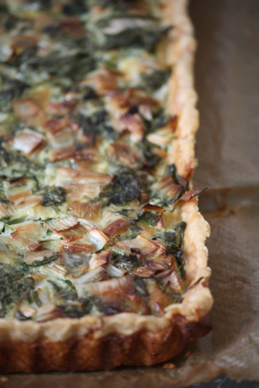 Passion Meets Creativity: Rocket Leek Tart with a Touch of Parmesan