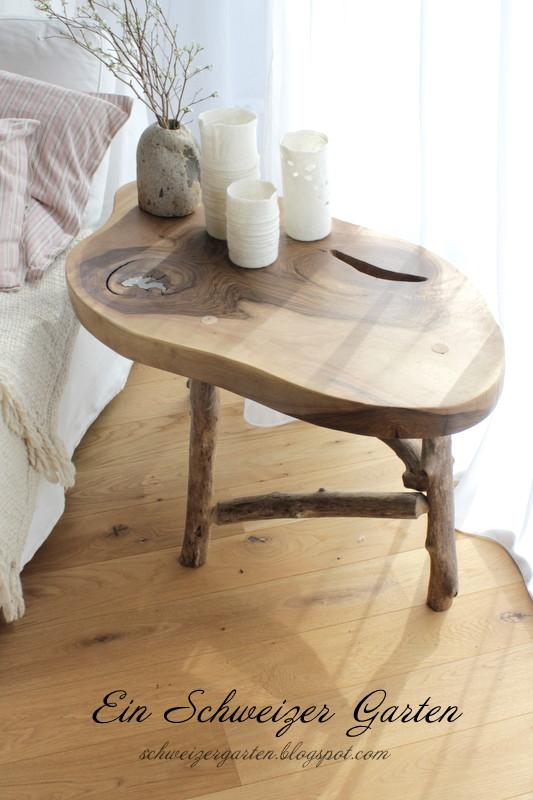 Ein Schweizer Garten: DIY - Holztisch