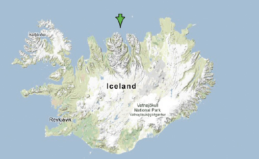 Sciency Thoughts: Earthquake off the north coast of Iceland.