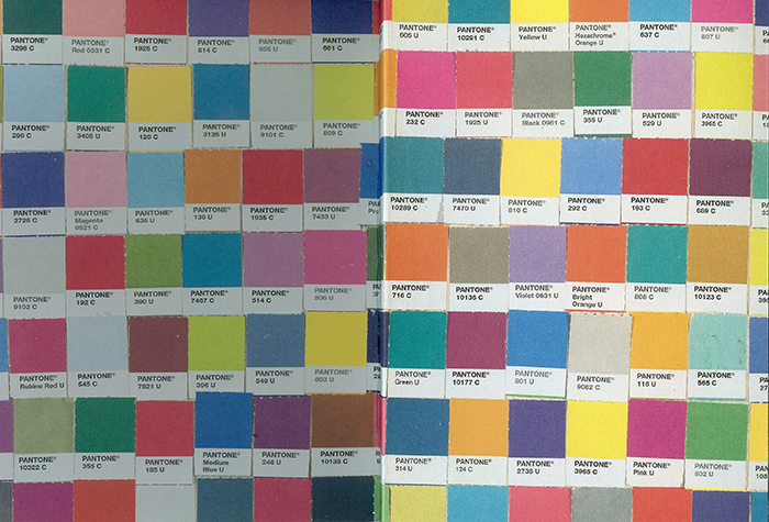 COLOUR CHIPS PANTONE