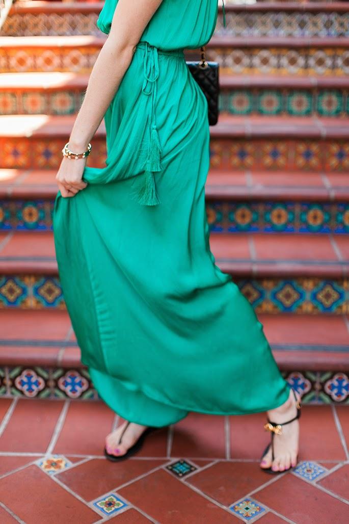 LOFT Tasseled Halter Dress