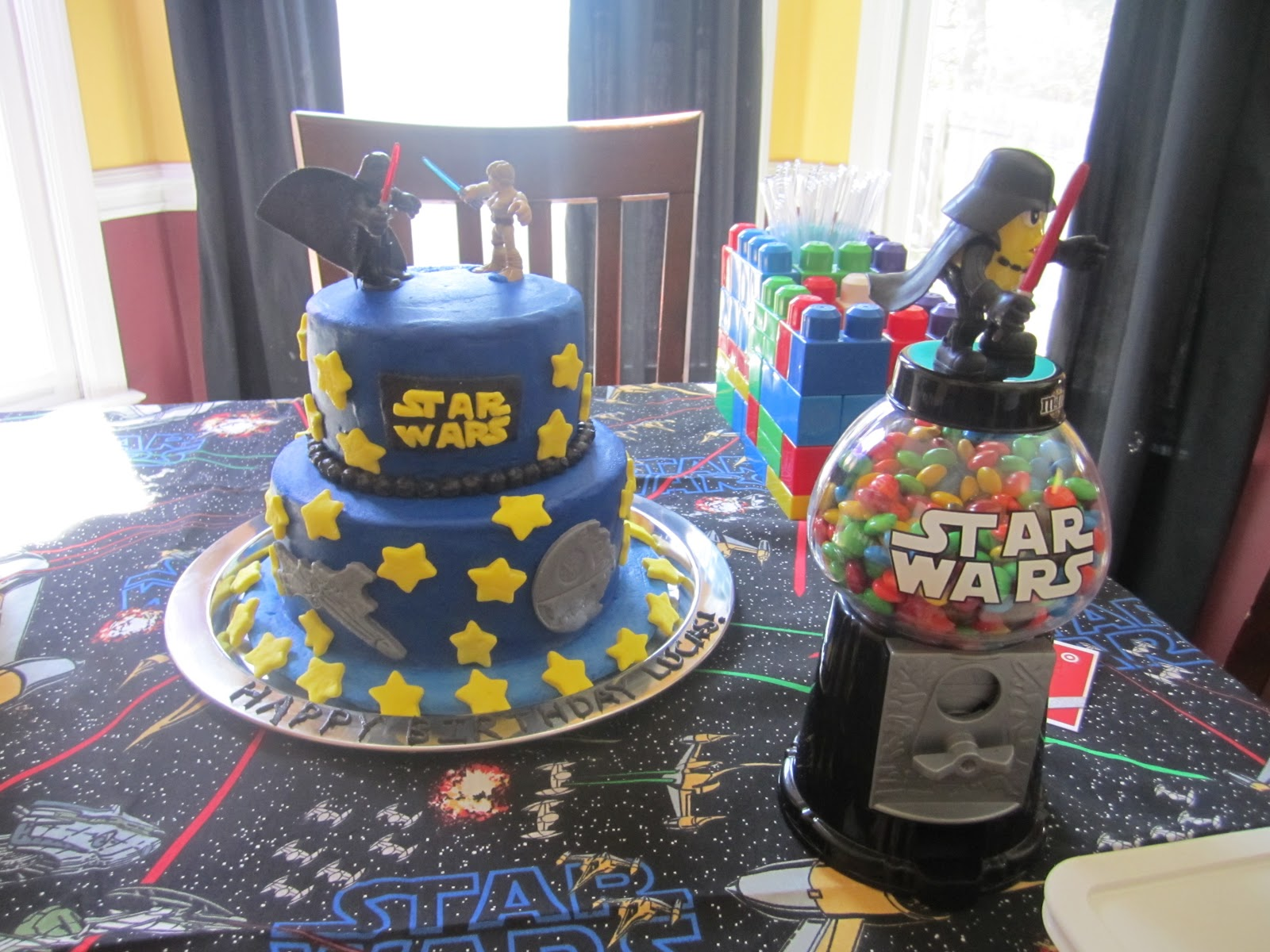 Star Wars Lego Decorations Legos And Baby Dolls Ls Lego Star Wars Birthday Party