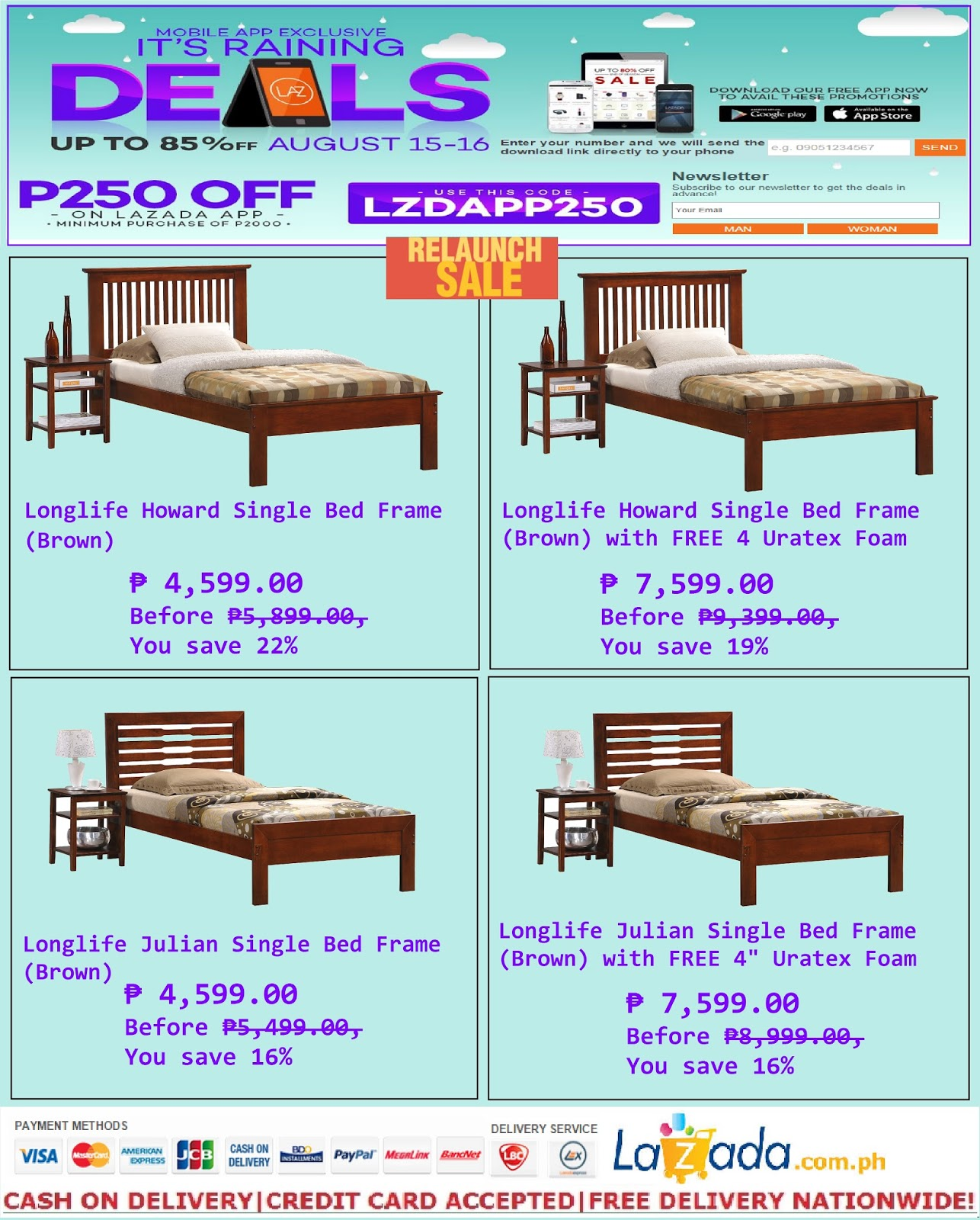 Beau Get P250.00 Discount On Longlife Single Size Bed Frames At Lazada