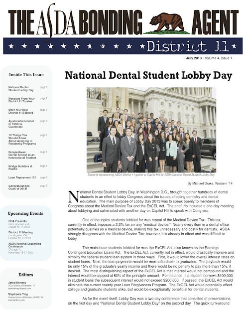 American Student Dental Association District 11 Newsletter