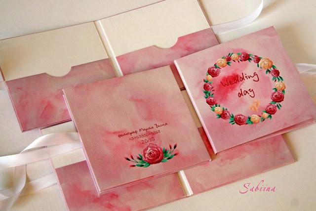 Свадебные аксессуары ручной работы для фотографа, конверты для дисков своими руками, свадьба в акварели, свадебные конверты для CD, веночки в свадебном оформлении, свадьба в розовом цвете, ручная работы для фотографа