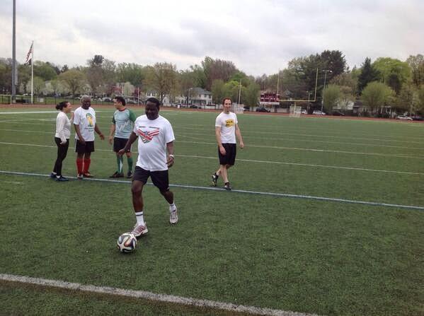 raila playing football