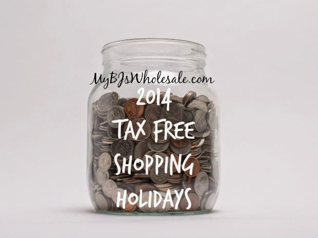 Tax Free Shopping Holidays 2014