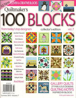 Quiltmaker 100 Blocks Vol.7 Magazine giveaway!