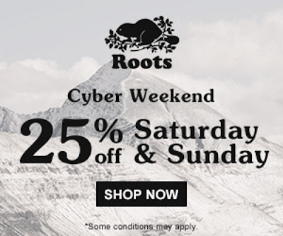 Roots Cyber Monday 25% Off