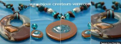 Bijoux fantaisie créateurs de verre, bijoux d'expection