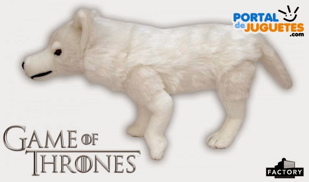 peluche lobo fantasma juego de tronos lateral
