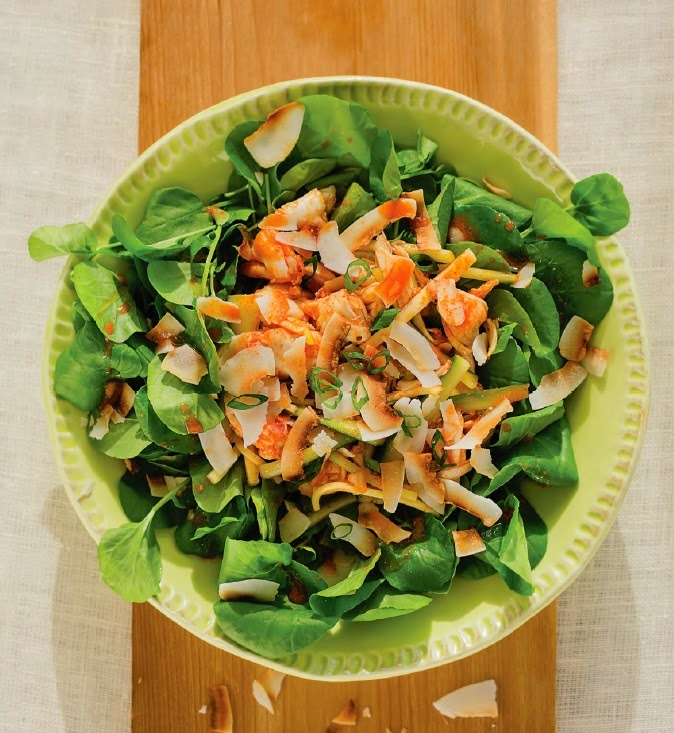 ... Crab, Green Mango, Cucumber & Coconut Salad with Chili Lime Dressing