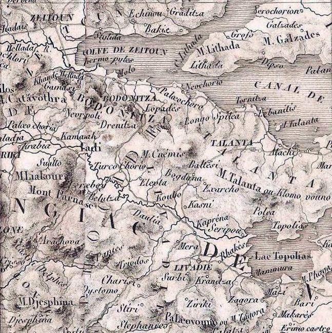Χάρτης της Ρούμελης του 1936