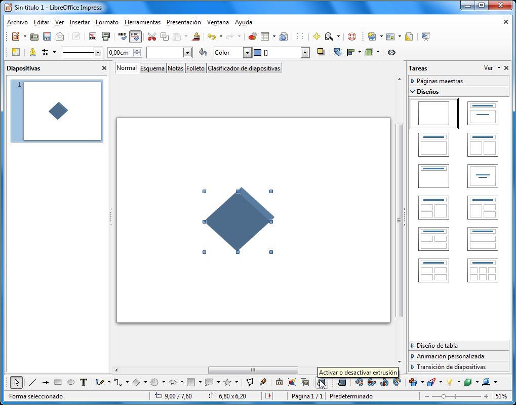 LibreOffice Impress - Formas y Objetos 3D | Aplicaciones de Libre Uso