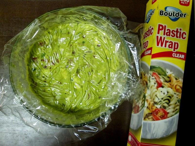 Guacamole covered