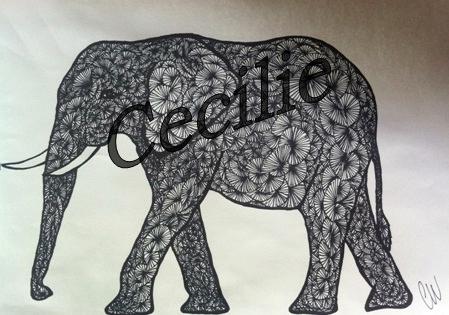 en giraf tegning