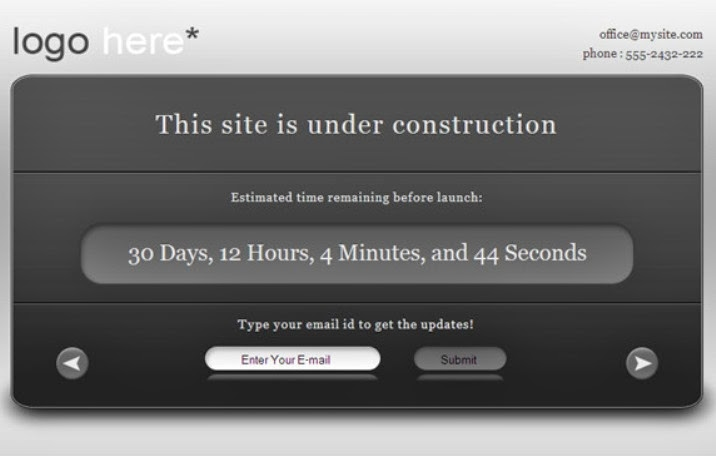 "Free ""Under Construction"" WordPress Theme"