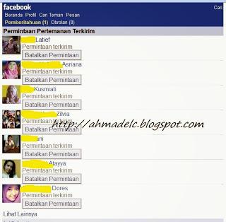 daftar Siapa Saja yang Tidak Konfirmasi Pertemanan Kita di Facebook
