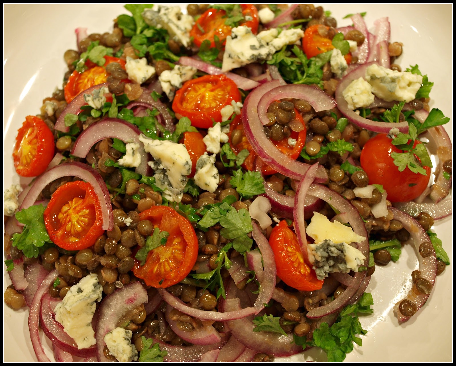 Mark's Veg Plot: Lentil and Red Onion salad