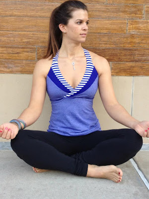 lululemon deep breath tank blue