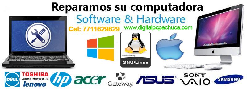 Reparación de computadoras a domicilio en Pachuca