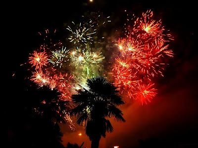 feu d'artifice du 14 juillet 2013 à PAU